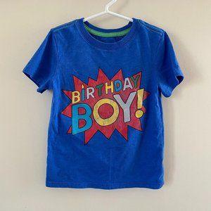 Cat & Jack Short Sleeve Blue Birthday Boy T-Shirt